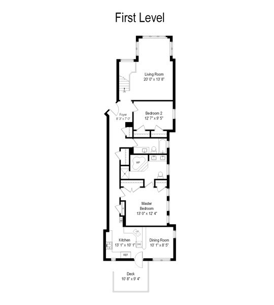 Real Estate Photography - 1332 W Albion Ave #1W, Chicago, IL, 60626 - Floor Plan