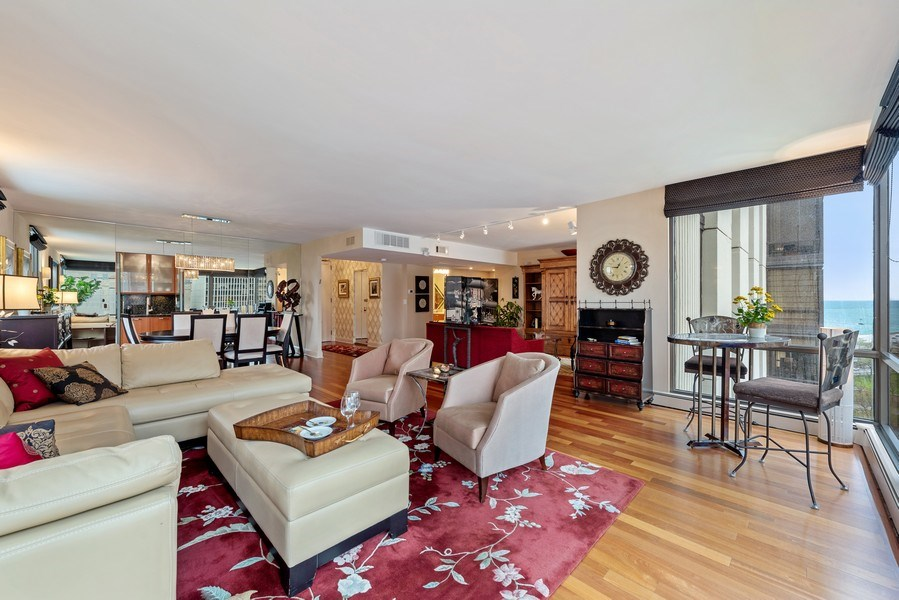 Real Estate Photography - 100 E. Bellevue Place #11D, Chicago, IL, 60611 - Living Room