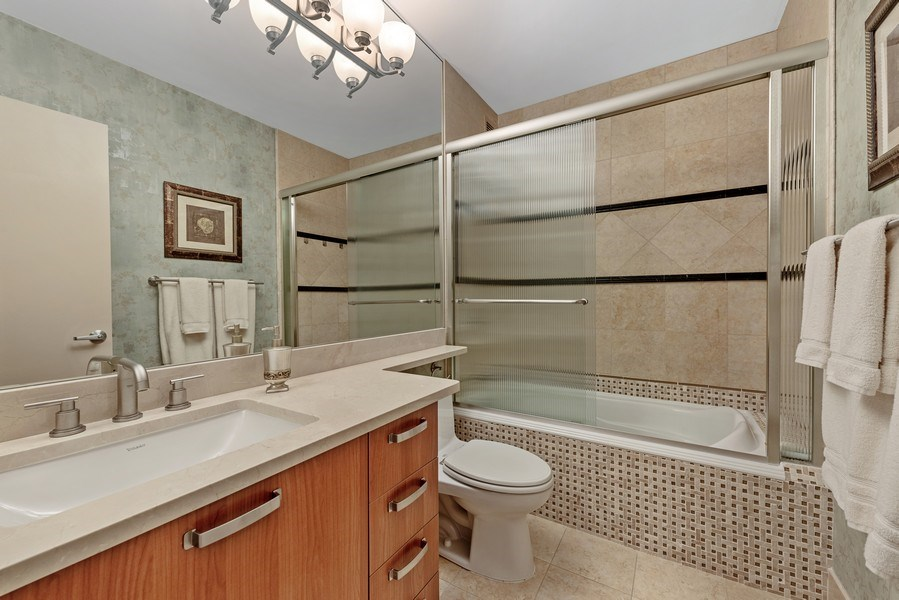 Real Estate Photography - 100 E. Bellevue Place #11D, Chicago, IL, 60611 - Master Bathroom