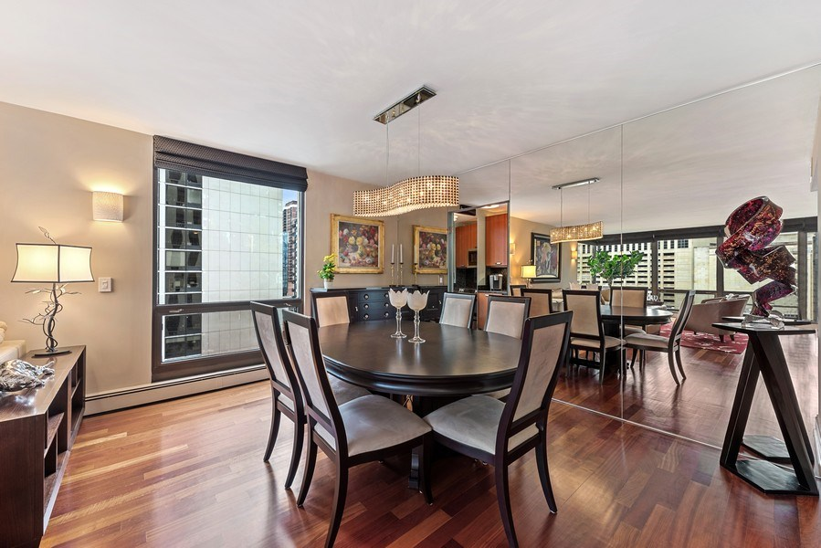Real Estate Photography - 100 E. Bellevue Place #11D, Chicago, IL, 60611 - Dining Room