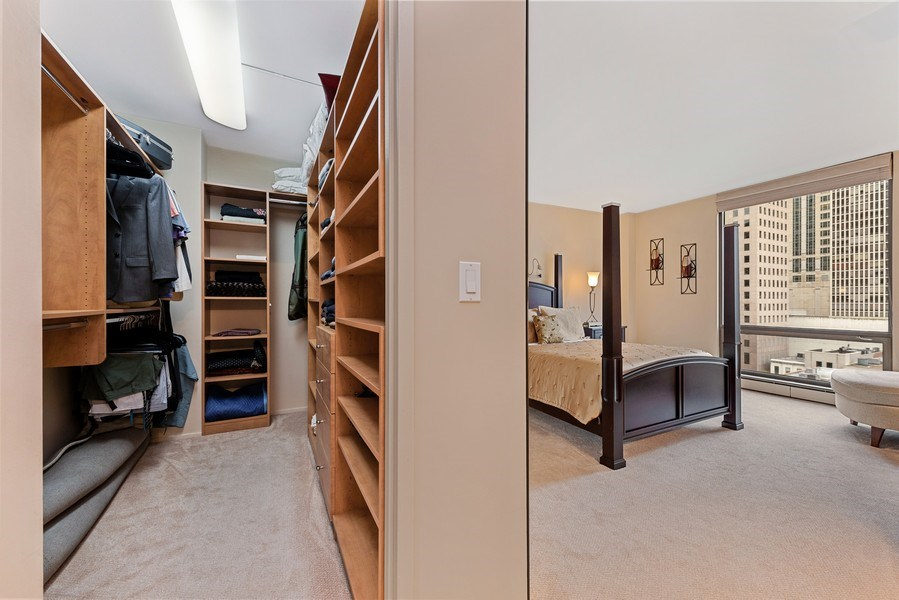 Real Estate Photography - 100 E. Bellevue Place #11D, Chicago, IL, 60611 - Master Bedroom Closet