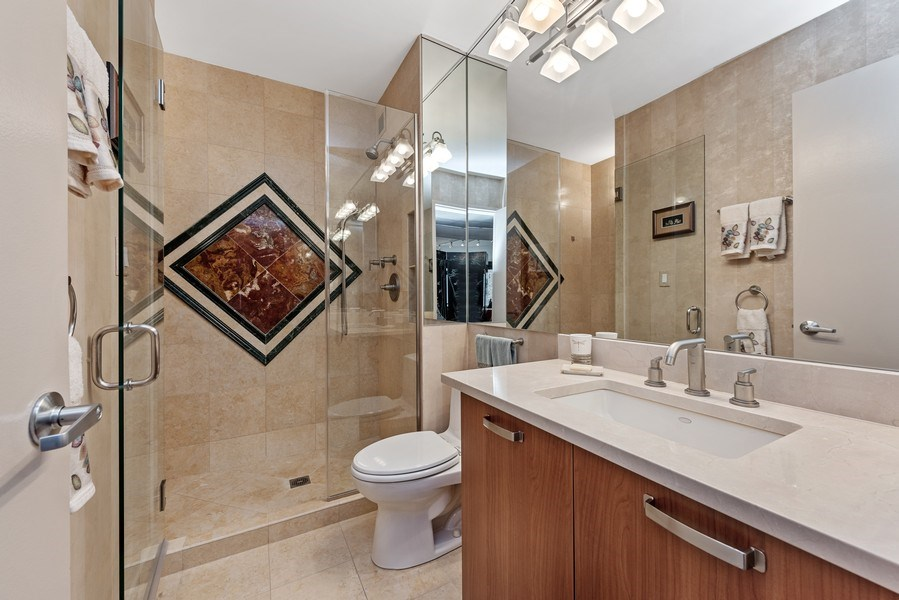 Real Estate Photography - 100 E. Bellevue Place #11D, Chicago, IL, 60611 - 2nd Bathroom