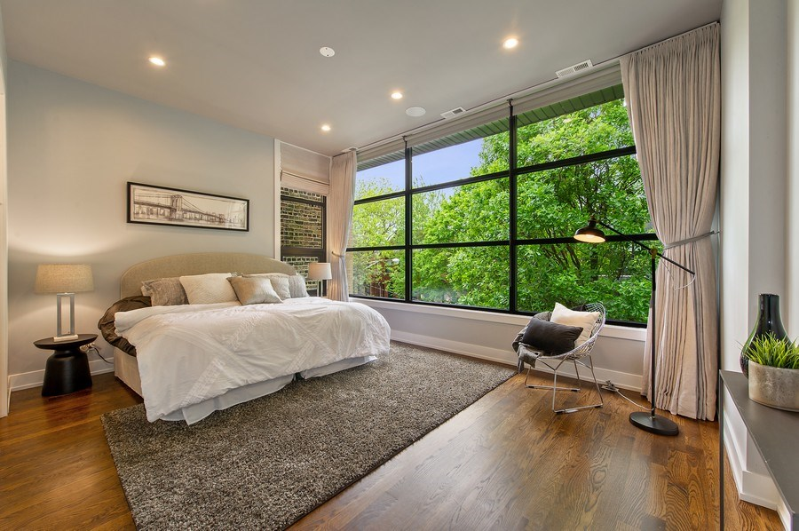 Real Estate Photography - 2033 W. Cortland, Chicago, IL, 60647 - Master Bedroom
