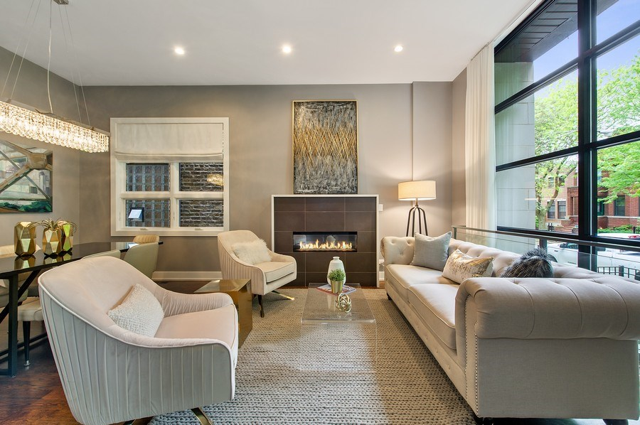 Real Estate Photography - 2033 W. Cortland, Chicago, IL, 60647 - Living Room