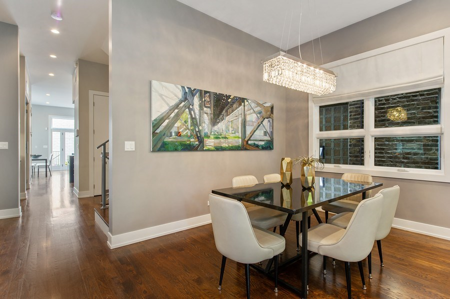 Real Estate Photography - 2033 W. Cortland, Chicago, IL, 60647 - Dining Room