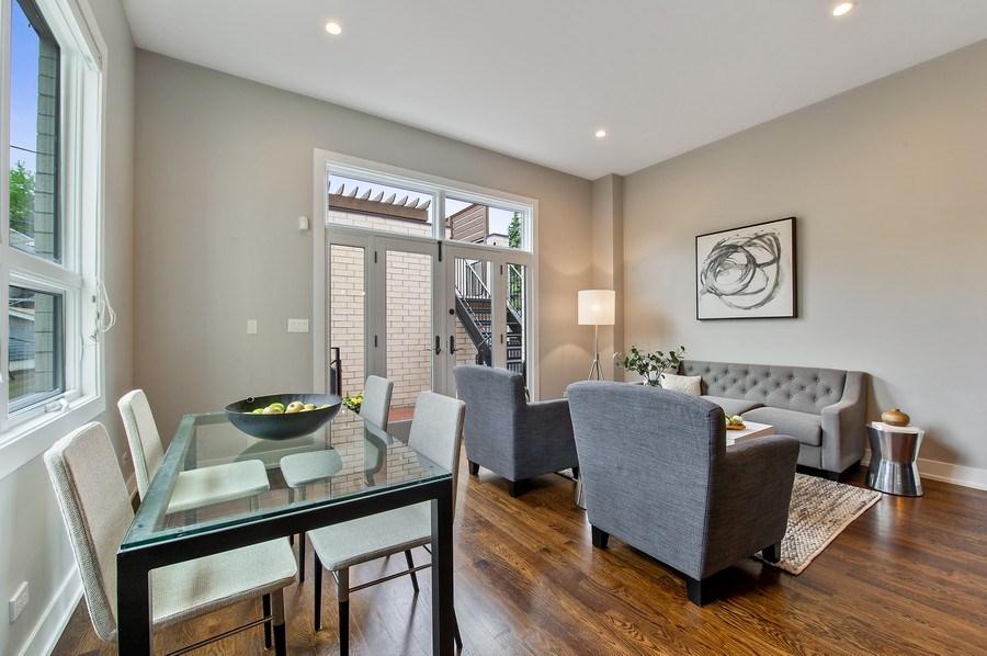 Real Estate Photography - 2033 W. Cortland, Chicago, IL, 60647 - Breakfast Area