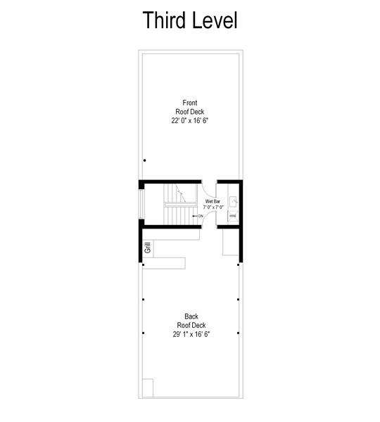 Real Estate Photography - 2033 W. Cortland, Chicago, IL, 60647 - Floor Plan