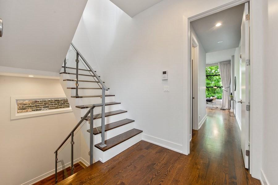 Real Estate Photography - 2033 W. Cortland, Chicago, IL, 60647 - Staircase