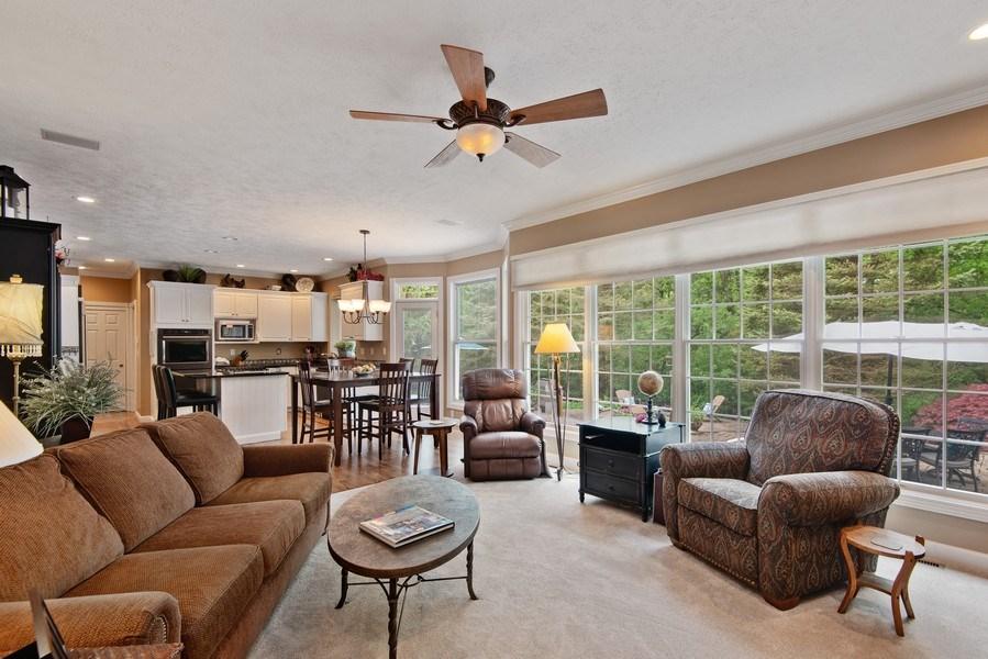 Real Estate Photography - 3170 Estates Drive  North, St. Joseph, MI, 49085 - Family Open to Kitchen