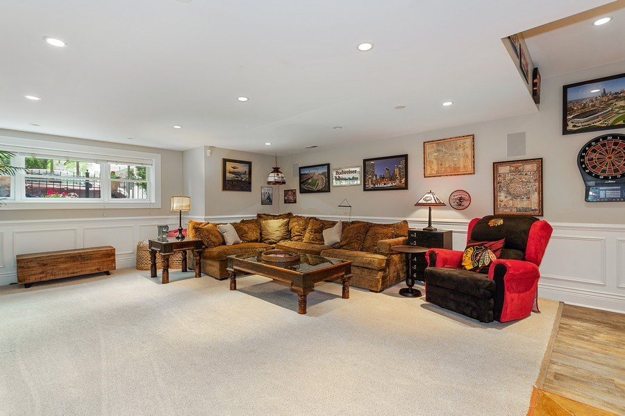 Real Estate Photography - 2514 N Greenview, Chicago, IL, 60614 - Lower Level Rec Room