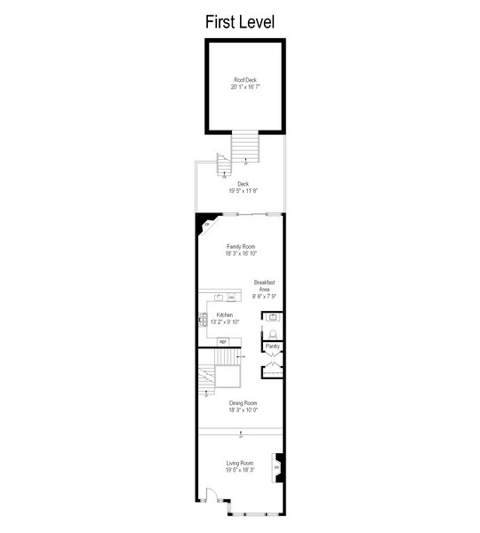 Real Estate Photography - 2514 N Greenview, Chicago, IL, 60614 - Floor Plan