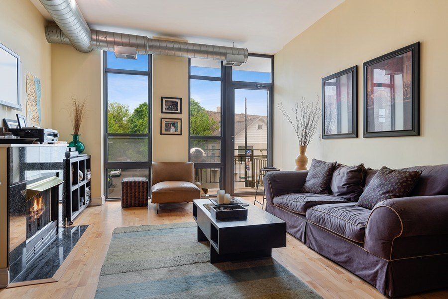 Real Estate Photography - 4020 N Damen, Unit 206, Chicago, IL, 60618 - Living Room