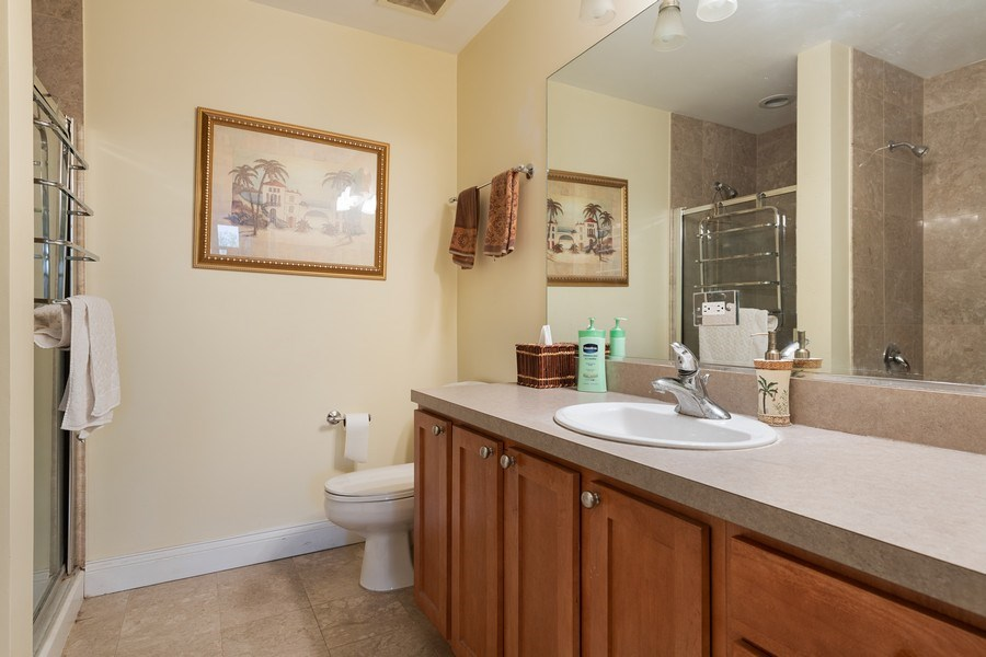 Real Estate Photography - 4020 N Damen, Unit 206, Chicago, IL, 60618 - 2nd Bathroom