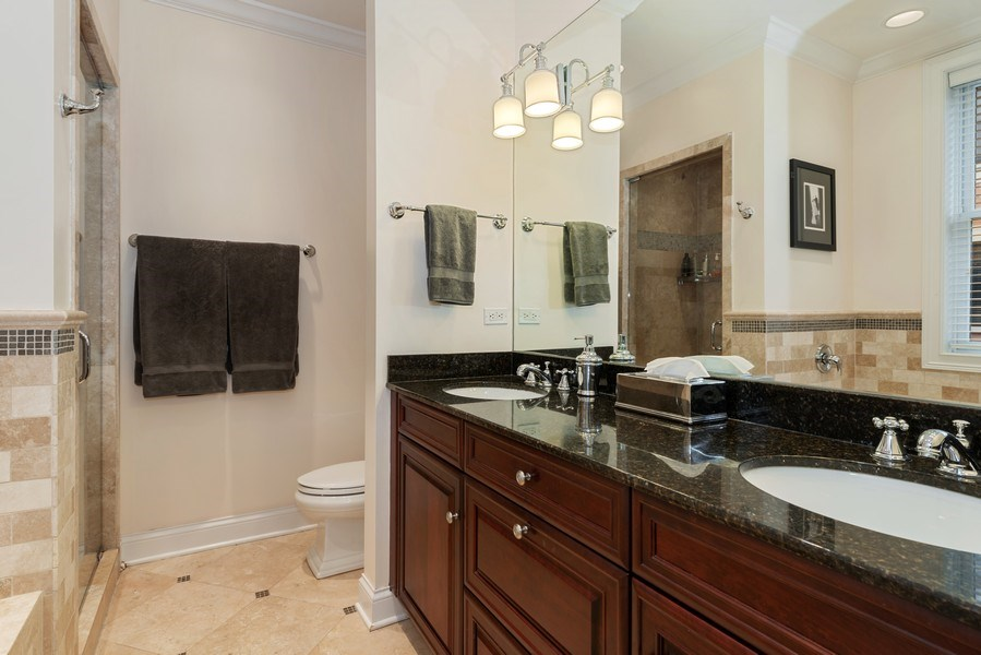 Real Estate Photography - 3842 N Southport, Unit k, Chicago, IL, 60613 - Master Bathroom
