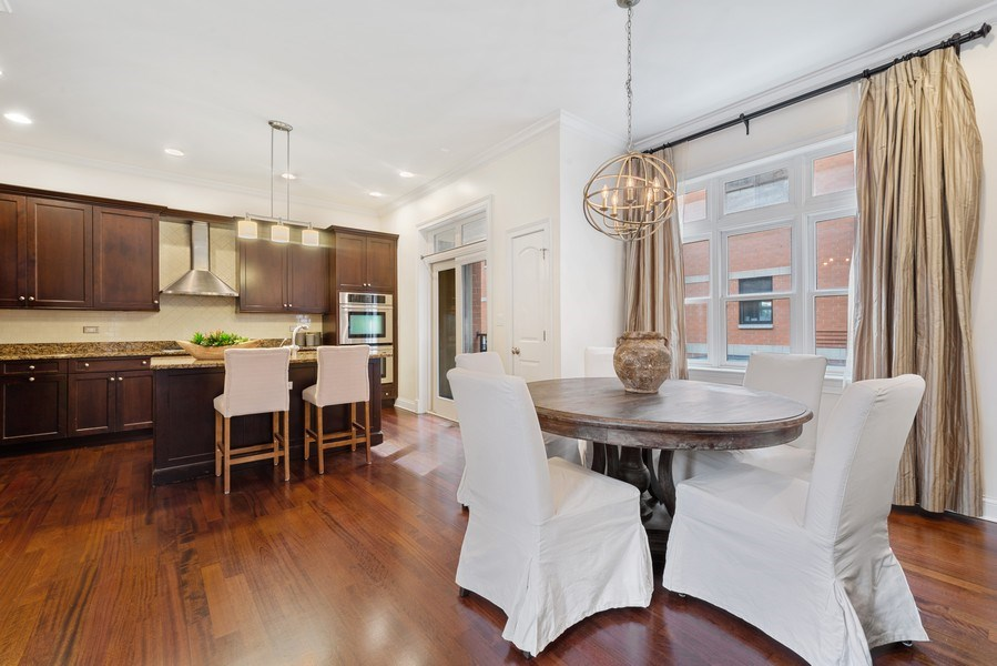 Real Estate Photography - 3842 N Southport, Unit k, Chicago, IL, 60613 - Dining Room