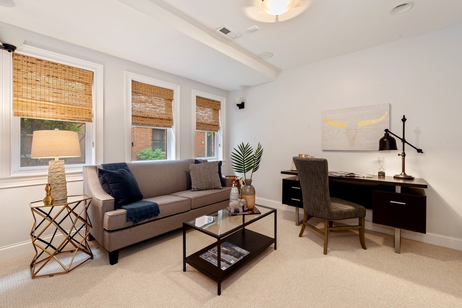 Real Estate Photography - 3842 N Southport, Unit k, Chicago, IL, 60613 - Den