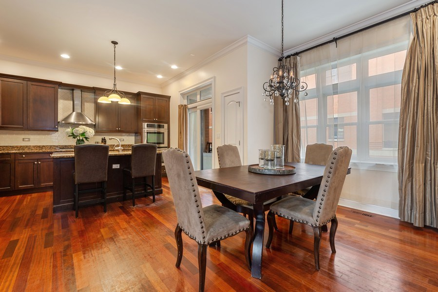Real Estate Photography - 3842 N Southport, Unit k, Chicago, IL, 60613 - Kitchen / Dining Room