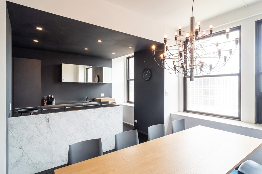 Real Estate Photography - 600 S Dearborn, Unit 1414, Chicago, IL, 60605 - Kitchen/Dining