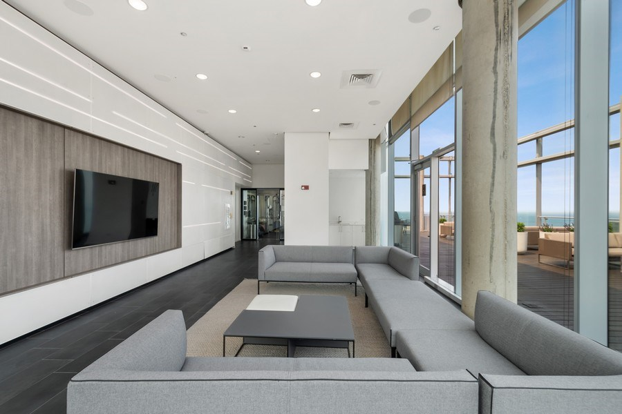 Real Estate Photography - 600 N Fairbanks Ct, Unit 1503, Chicago, IL, 60611 - Rooftop Lounge