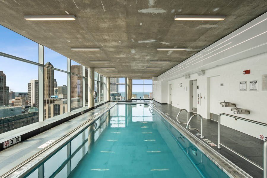 Real Estate Photography - 600 N Fairbanks Ct, Unit 1503, Chicago, IL, 60611 - Pool