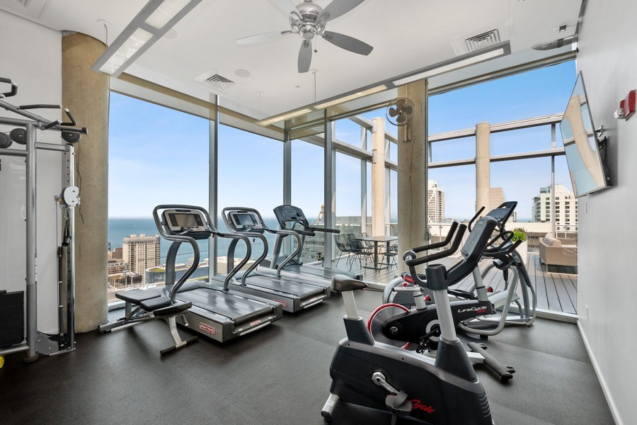 Real Estate Photography - 600 N Fairbanks Ct, Unit 1503, Chicago, IL, 60611 - Fitness Center