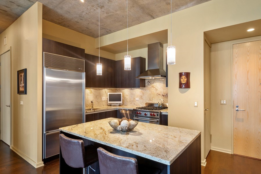 Real Estate Photography - 600 N Fairbanks Ct, Unit 1503, Chicago, IL, 60611 - Kitchen