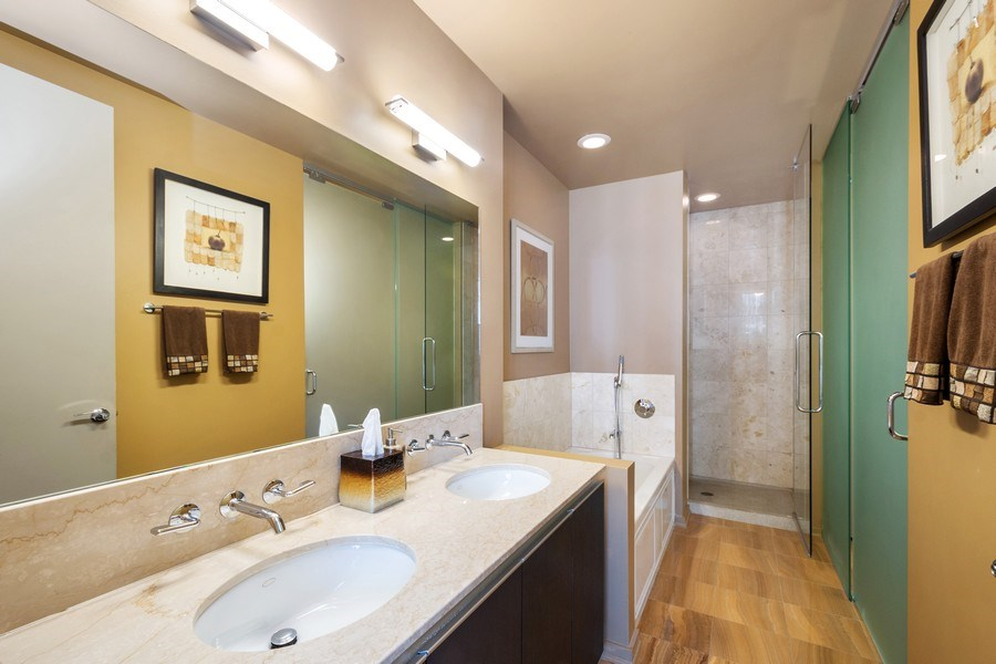 Real Estate Photography - 600 N Fairbanks Ct, Unit 1503, Chicago, IL, 60611 - Bathroom