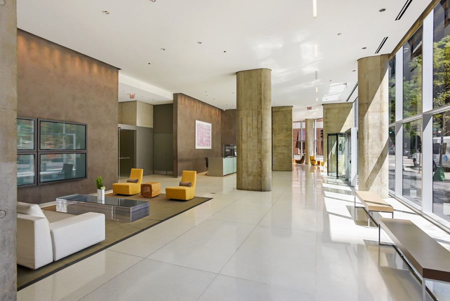 Real Estate Photography - 600 N Fairbanks Ct, Unit 1503, Chicago, IL, 60611 - Lobby