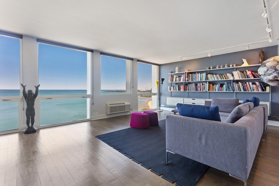 Real Estate Photography - 1240 N Lake Shore Dr, Unit 12B, Chicago, IL, 60610 - Living Room