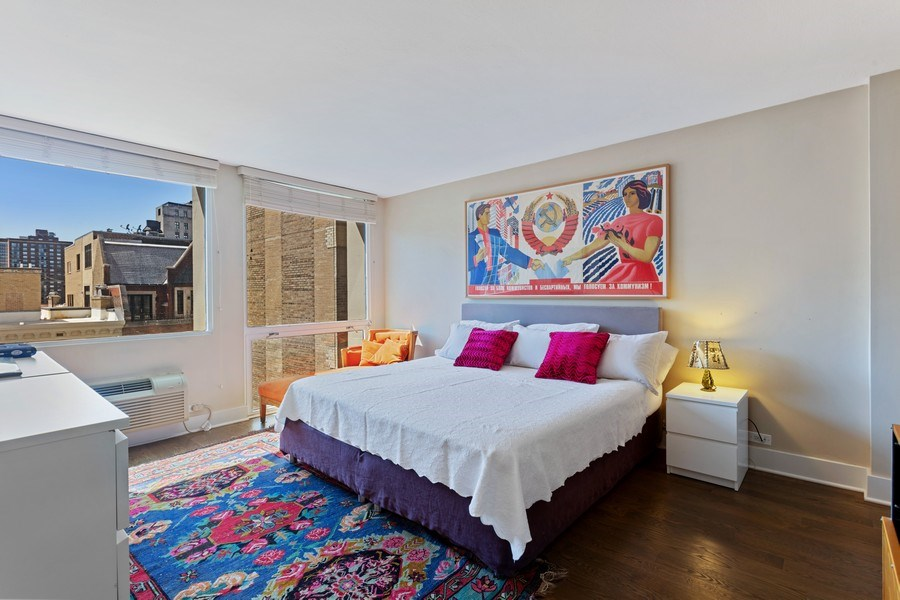 Real Estate Photography - 1240 N Lake Shore Dr, Unit 12B, Chicago, IL, 60610 - Master Bedroom