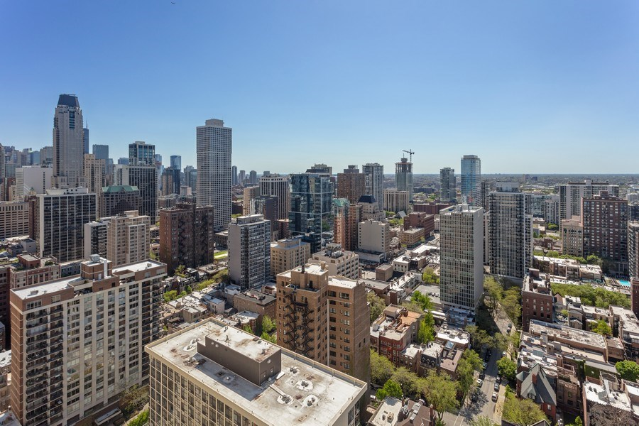 Real Estate Photography - 1240 N Lake Shore Dr, Unit 12B, Chicago, IL, 60610 - West Deck View
