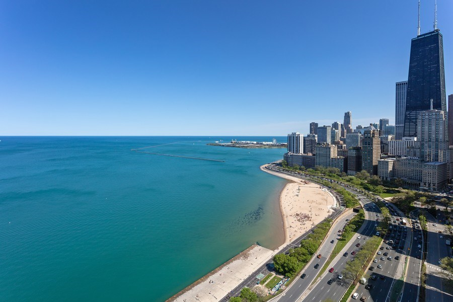 Real Estate Photography - 1240 N Lake Shore Dr, Unit 12B, Chicago, IL, 60610 - East Deck View