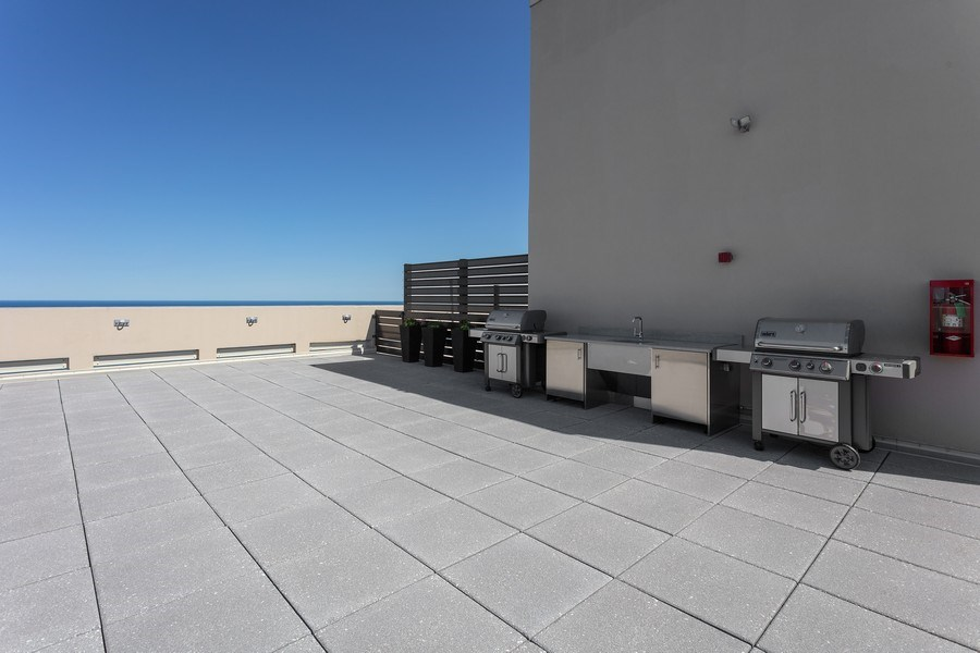 Real Estate Photography - 1240 N Lake Shore Dr, Unit 12B, Chicago, IL, 60610 - Common Roof Deck