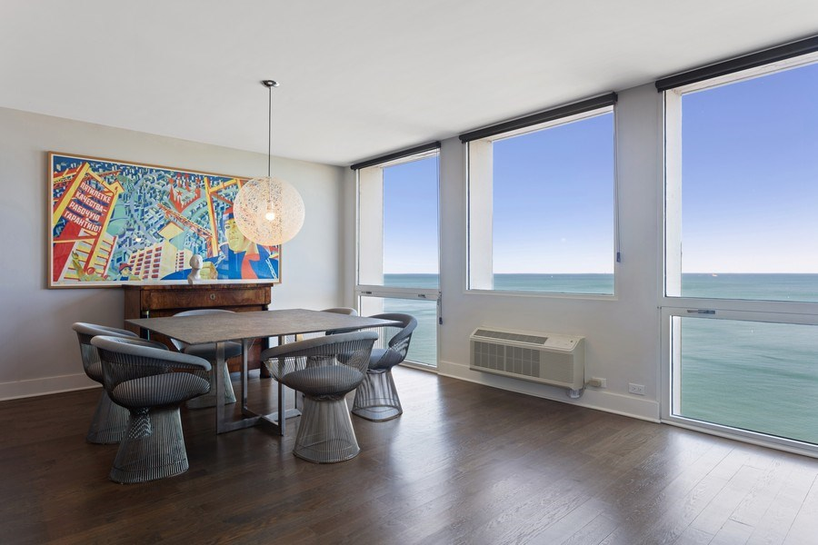 Real Estate Photography - 1240 N Lake Shore Dr, Unit 12B, Chicago, IL, 60610 - Dining Area