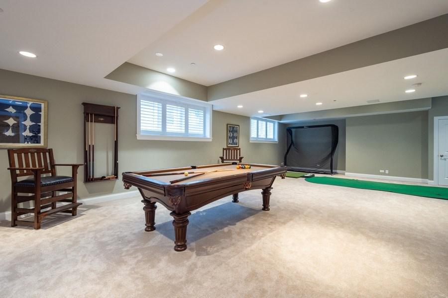 Real Estate Photography - 756 E Sunnyside Ave, Libertyville, IL, 60048 - Pool table area