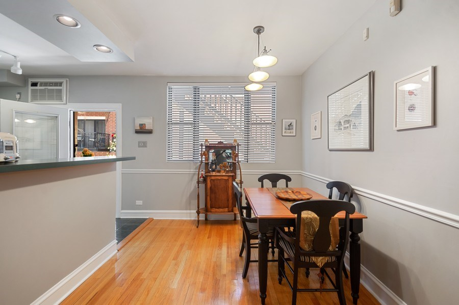 Real Estate Photography - 7631 N Eastlake Terrace, Unit 2B, Chicago, IL, 60626 - Dining Room