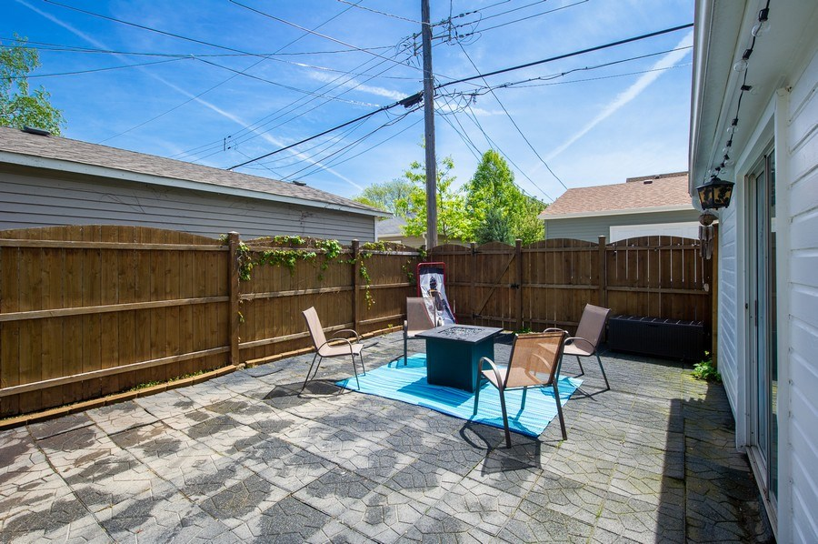 Real Estate Photography - 6229 N Leona Ave, Chicago, IL, 60646 - Rear Patio