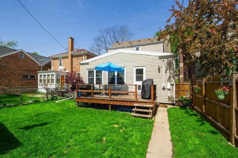 Real Estate Photography - 6229 N Leona Ave, Chicago, IL, 60646 - Rear View