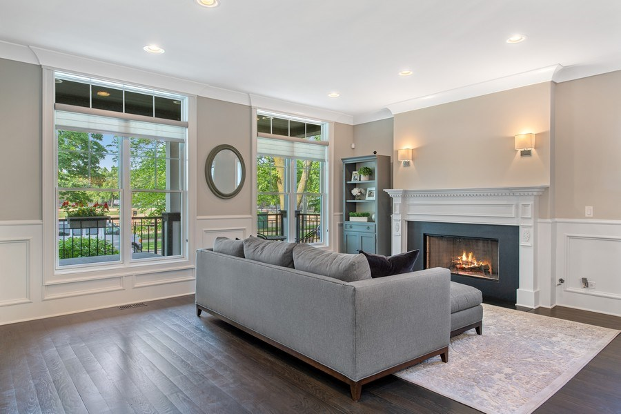 Real Estate Photography - 2019 W Wellington, Chicago, IL, 60618 - Living Room