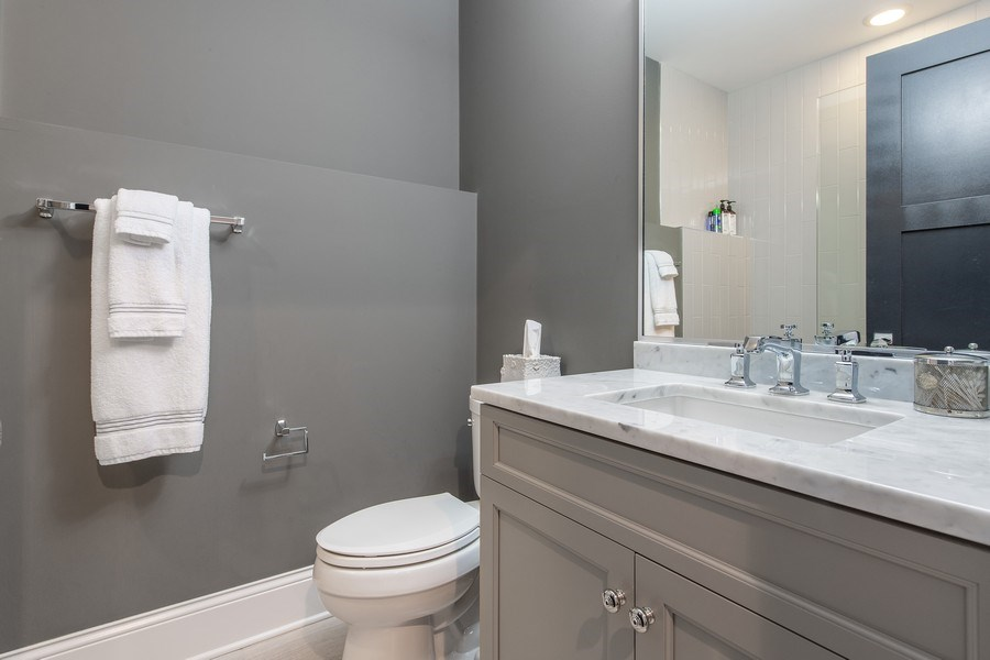 Real Estate Photography - 2019 W Wellington, Chicago, IL, 60618 - 3rd Bathroom