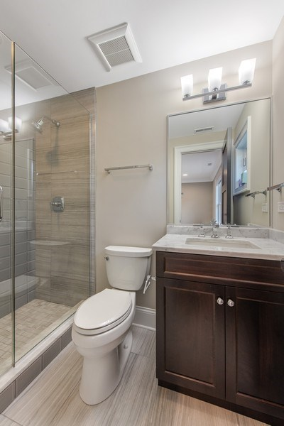 Real Estate Photography - 2019 W Wellington, Chicago, IL, 60618 - 5th Bathroom