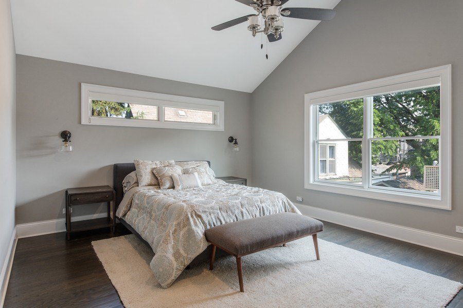 Real Estate Photography - 2019 W Wellington, Chicago, IL, 60618 - Master Bedroom