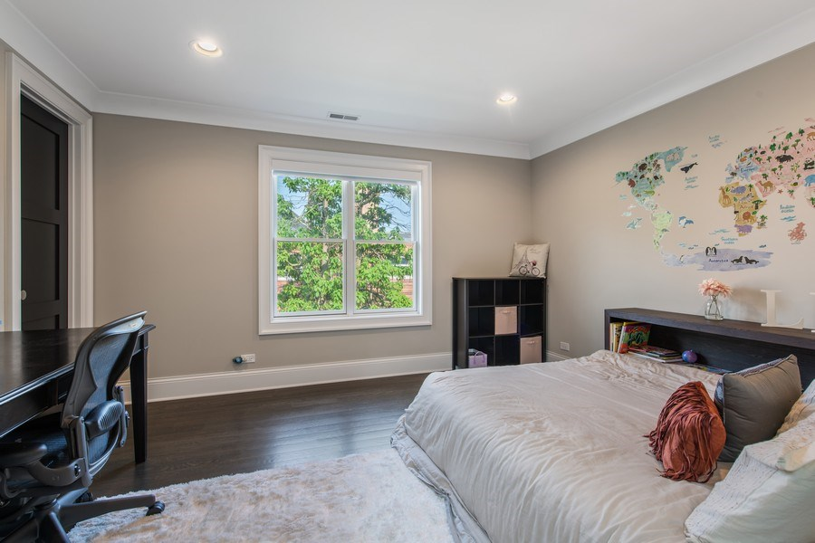 Real Estate Photography - 2019 W Wellington, Chicago, IL, 60618 - 2nd Bedroom