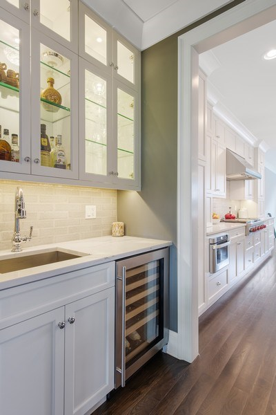 Real Estate Photography - 2019 W Wellington, Chicago, IL, 60618 - Butler's pantry