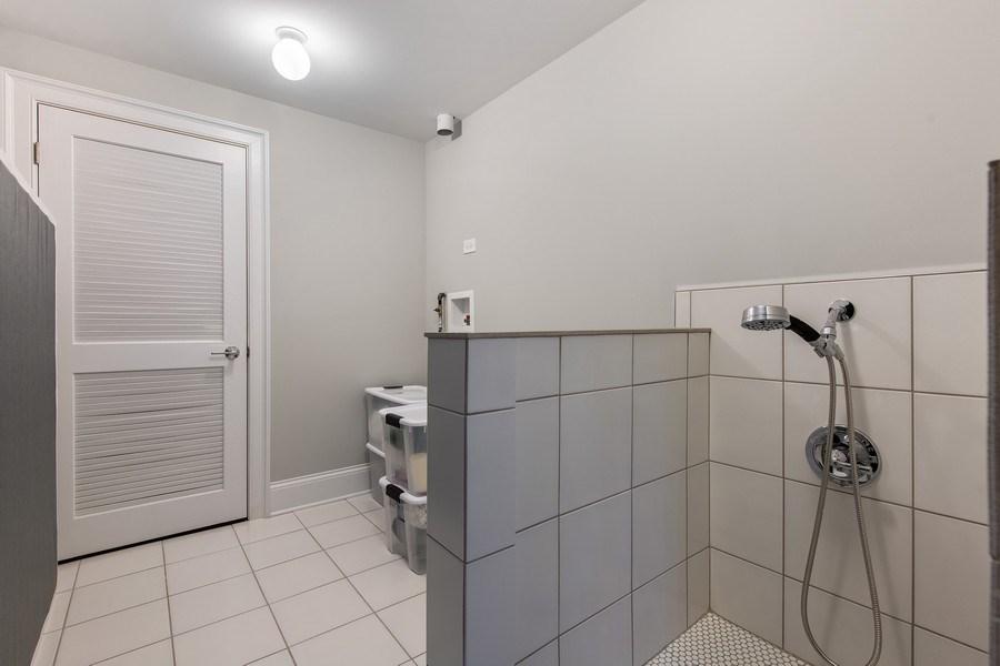 Real Estate Photography - 2019 W Wellington, Chicago, IL, 60618 - Pet Bath