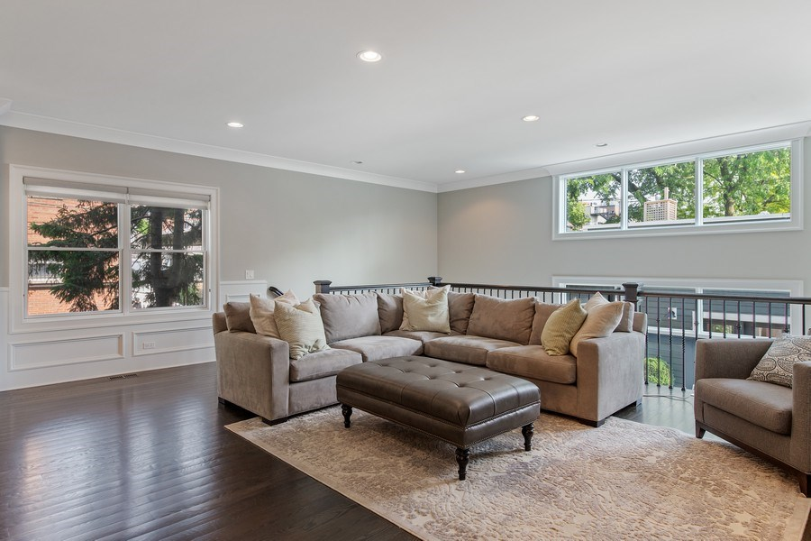 Real Estate Photography - 2019 W Wellington, Chicago, IL, 60618 - Family Room