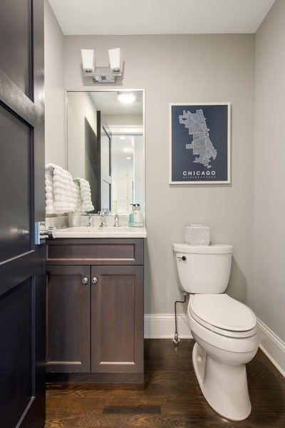 Real Estate Photography - 2019 W Wellington, Chicago, IL, 60618 - Half Bath