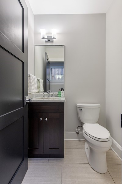Real Estate Photography - 2019 W Wellington, Chicago, IL, 60618 - 2nd Bathroom
