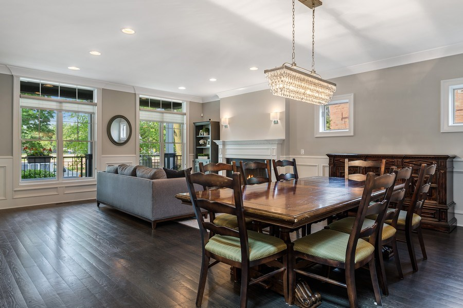 Real Estate Photography - 2019 W Wellington, Chicago, IL, 60618 - Living Room / Dining Room