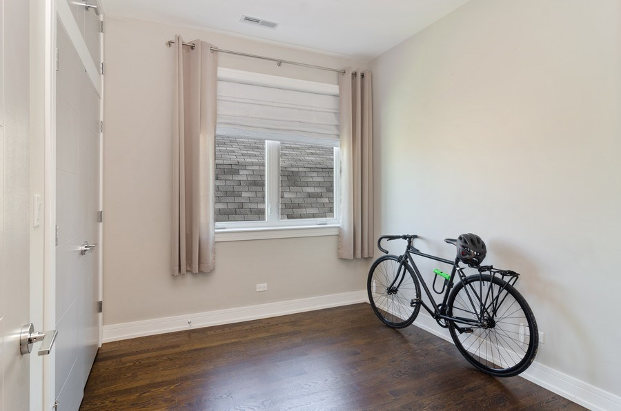 Real Estate Photography - 3104 N Kimball, Unit 2N, Chicago, IL, 60618 - 2nd Bedroom